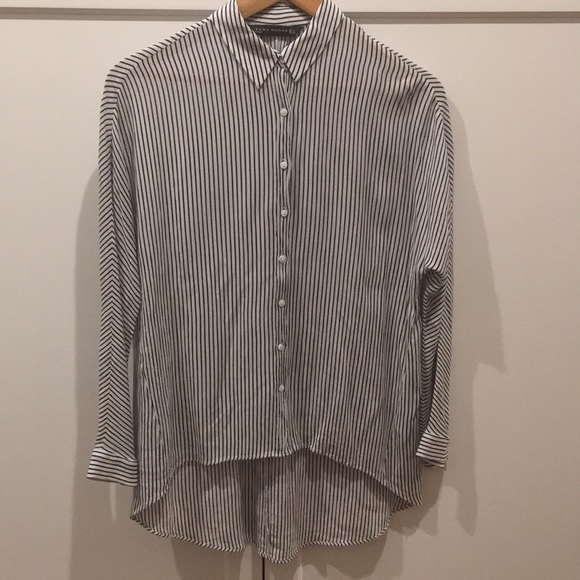 Zara Tops - Zara striped blouse .